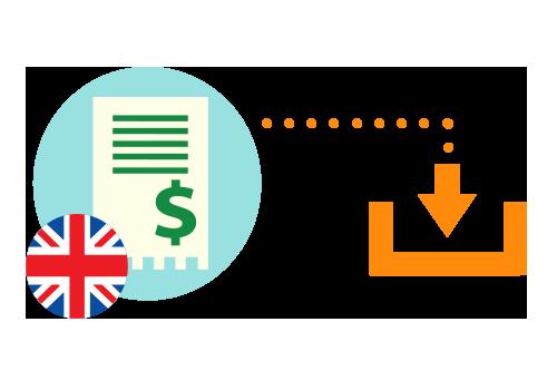 Descărcare factură externă (în limba engleză)